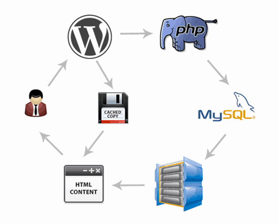 Caching process detailed image