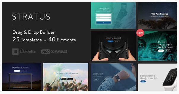 Stratus Business app WordPress Theme