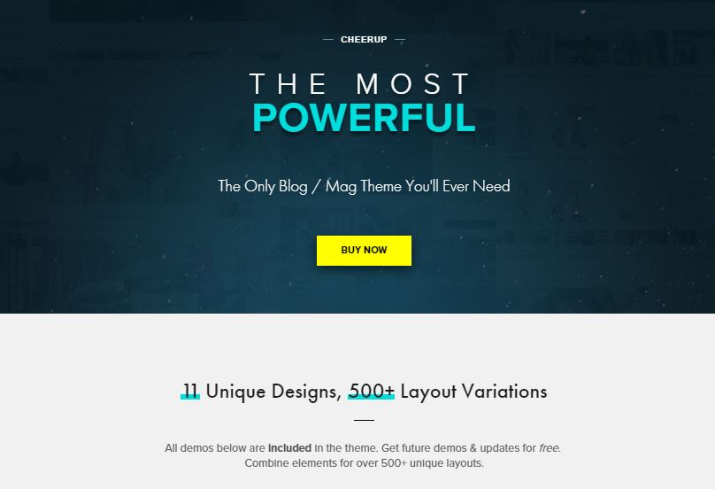CheerUp adsense optimized wordpress theme
