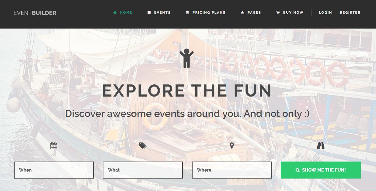 EventBuilder WordPress Event Theme
