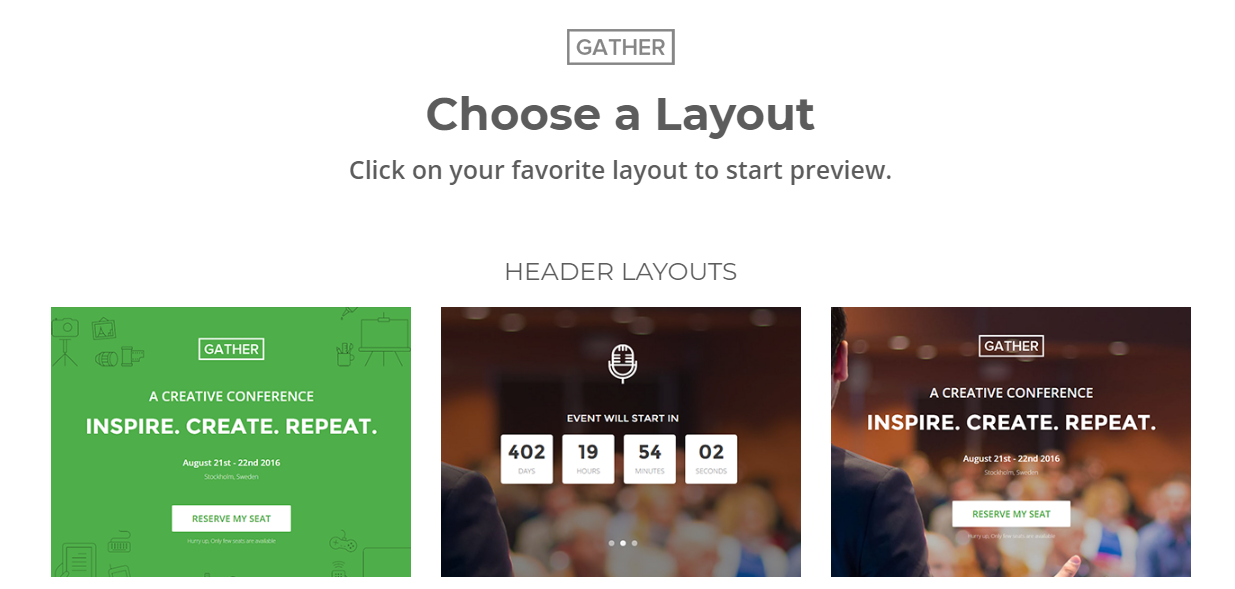 Gather Event & Conference WordPress theme