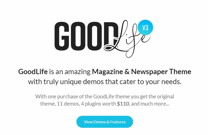 GoodLife Magazine & newspaper WordPress theme