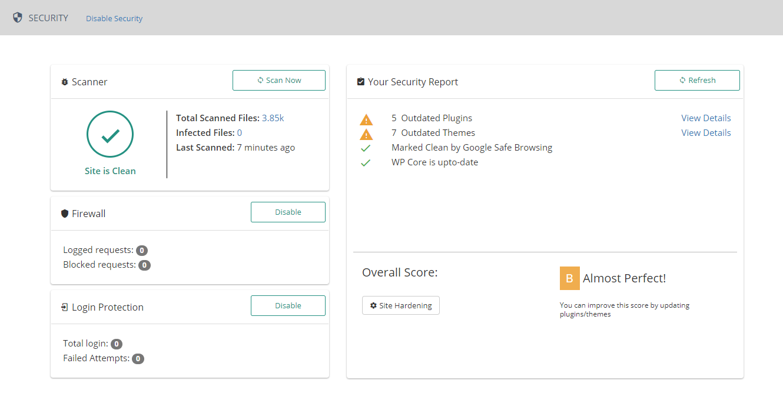 Website security scans