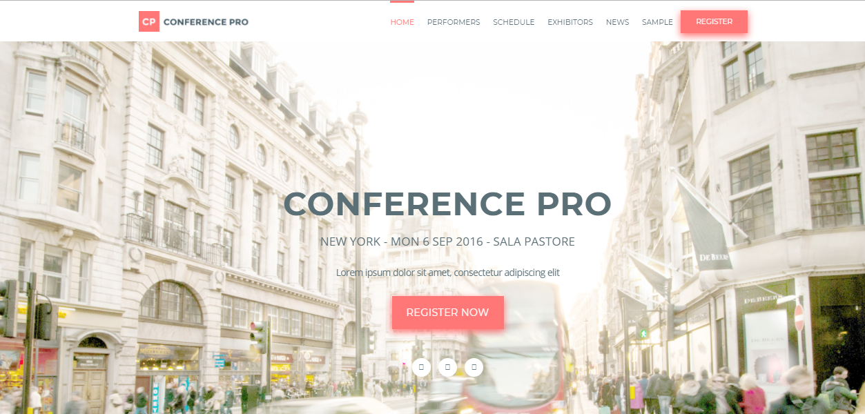 Conference Pro event wordpress theme