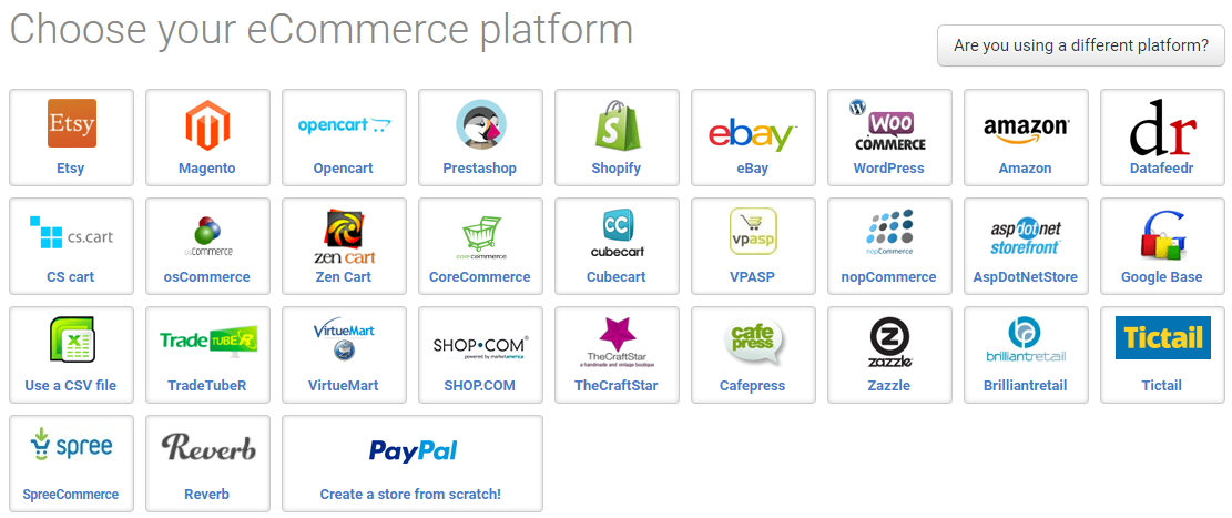 Choose Ecommerce platform