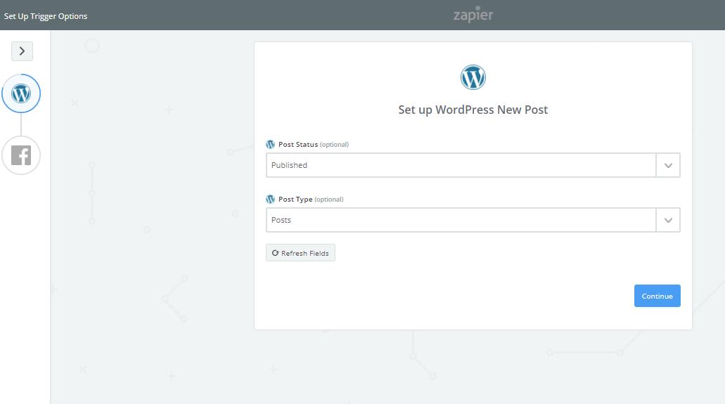 Set up WordPress new post