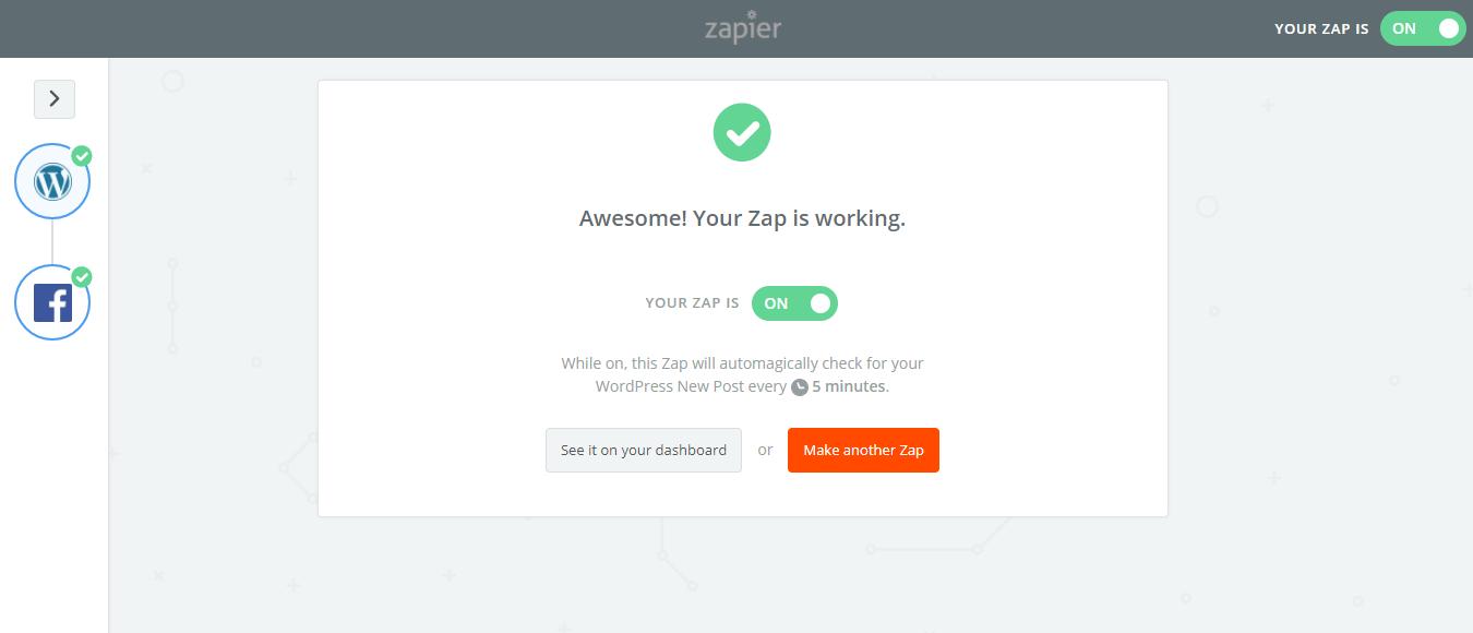 Zapier is now working