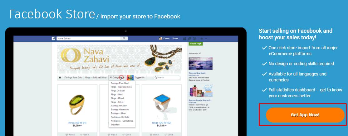 Get Facebook store app