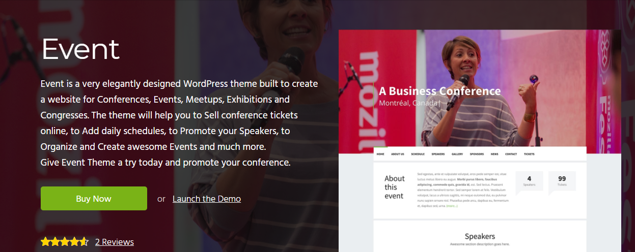 free event wordpress theme
