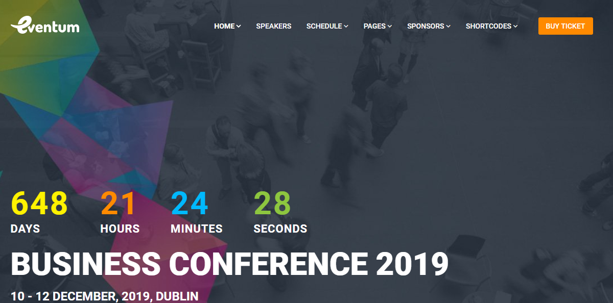 Eventum Conference event theme for wordpress