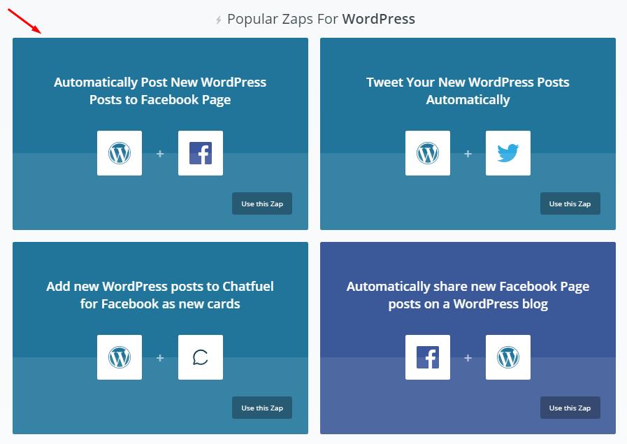 popular zaps for wordpress