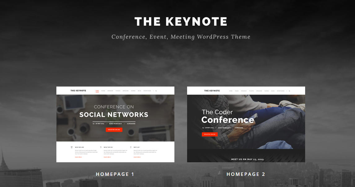 The Keynote conference event WordPress theme