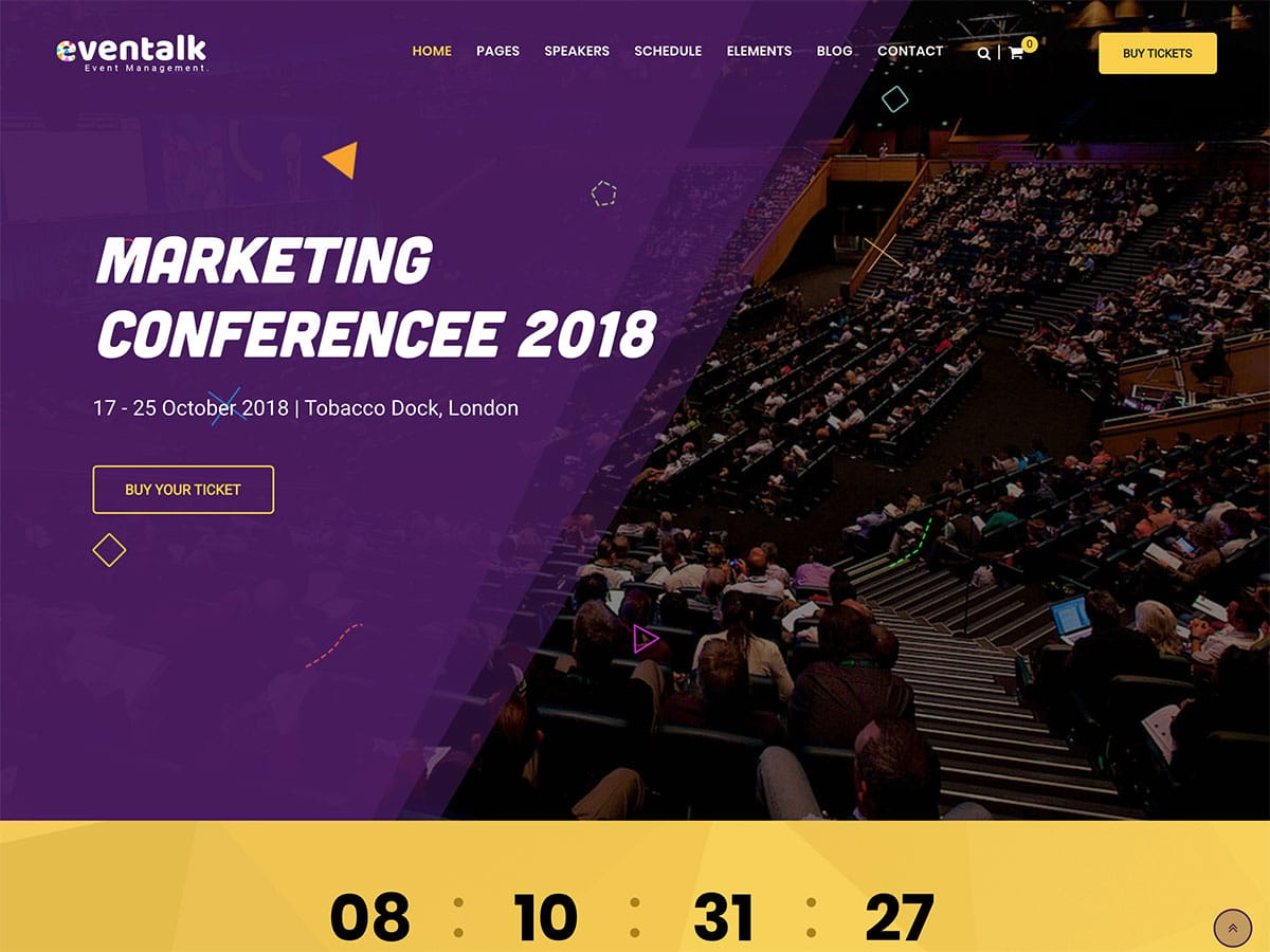 EvenTalk WordPress theme for Event