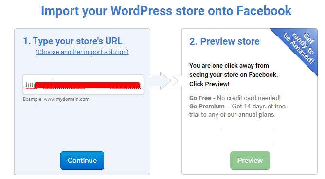 Import WordPress store on Facebook