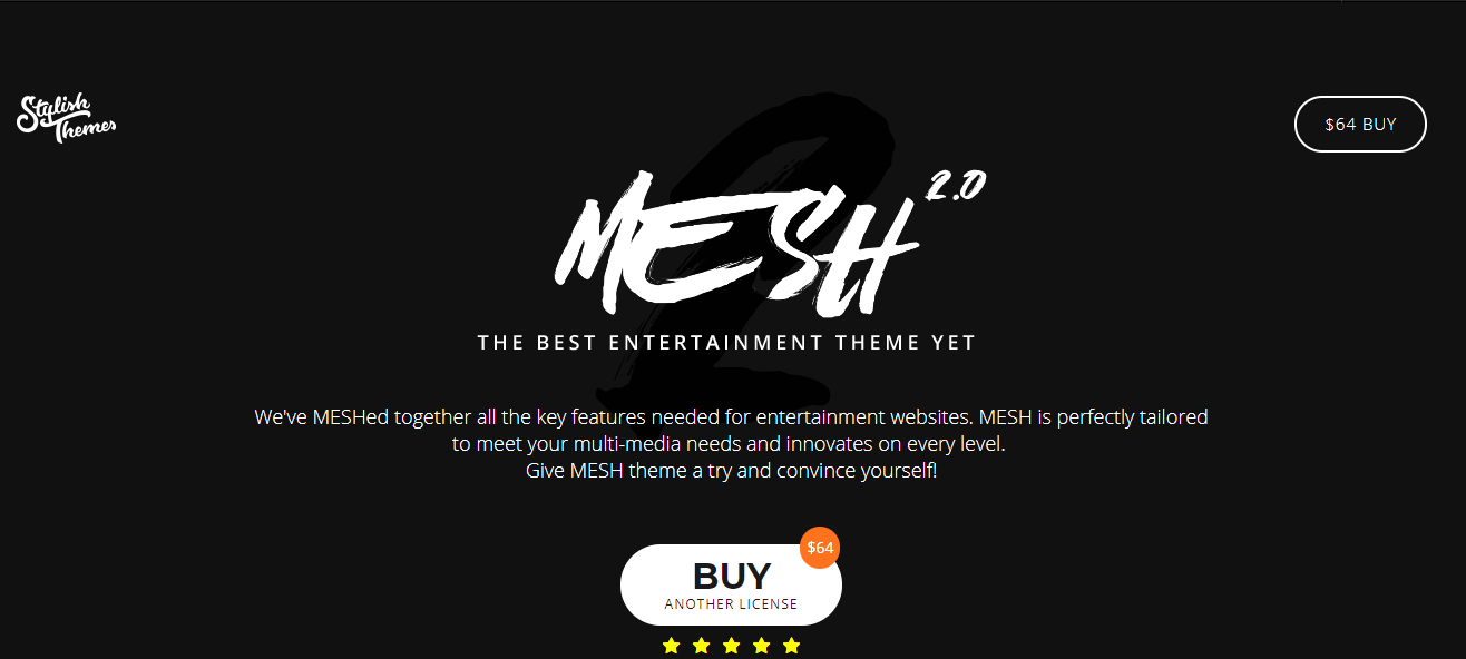 MESH Event WordPress theme
