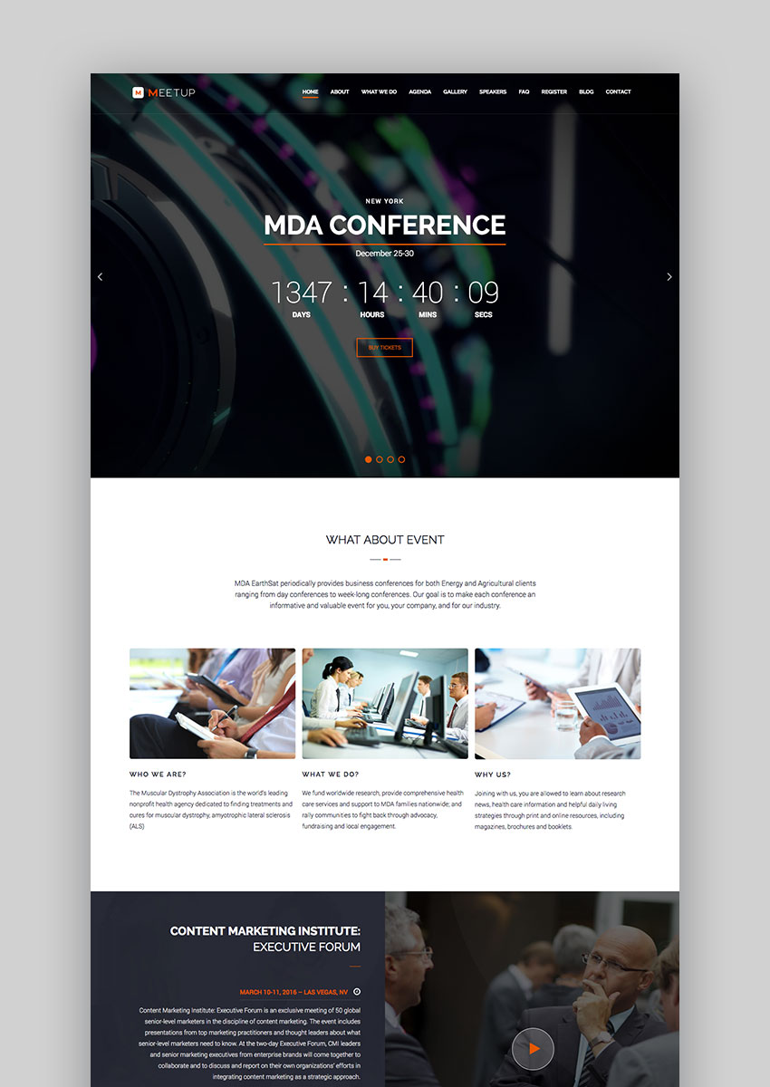 Meetup Event WordPress Theme
