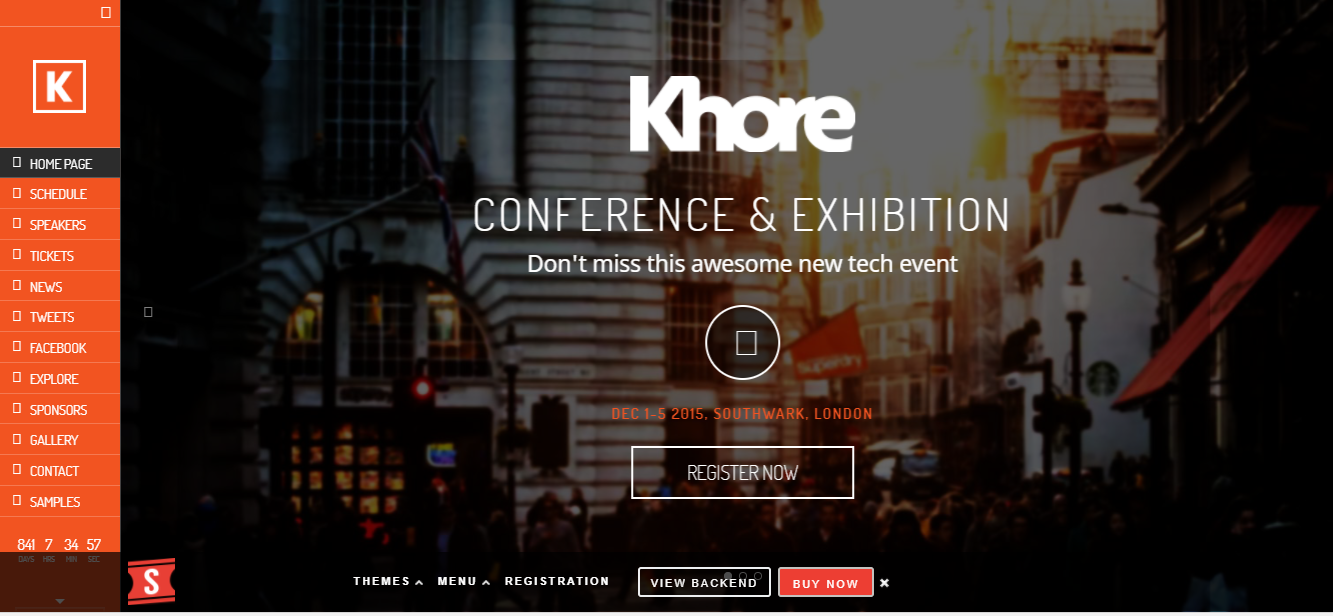Khore wordpress events theme