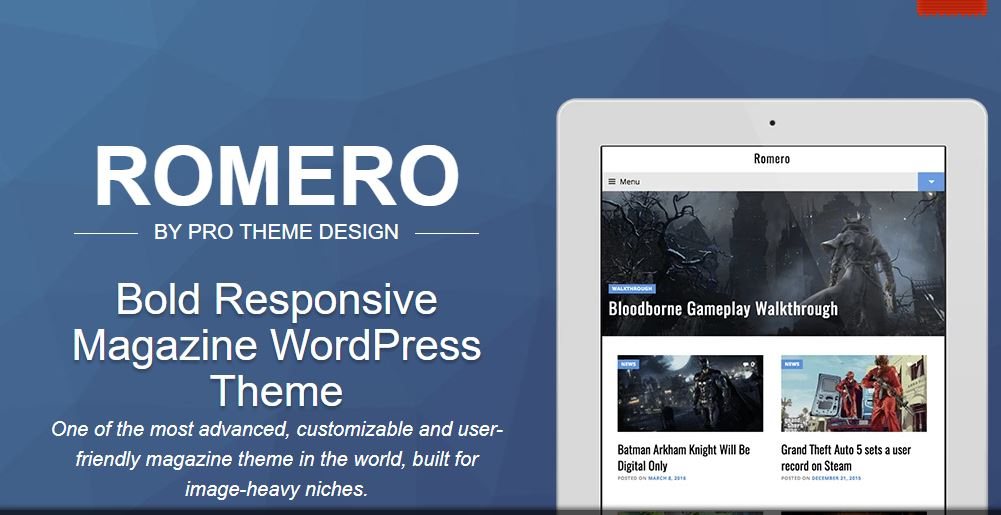 Romero adsense wordpress theme