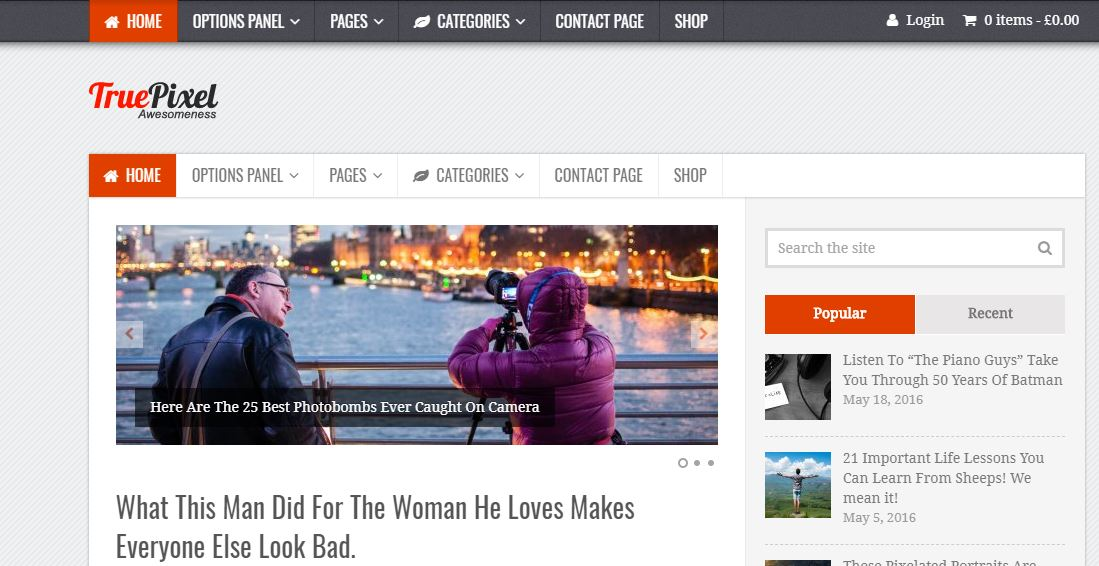TruePixel the WordPress Blogging Theme