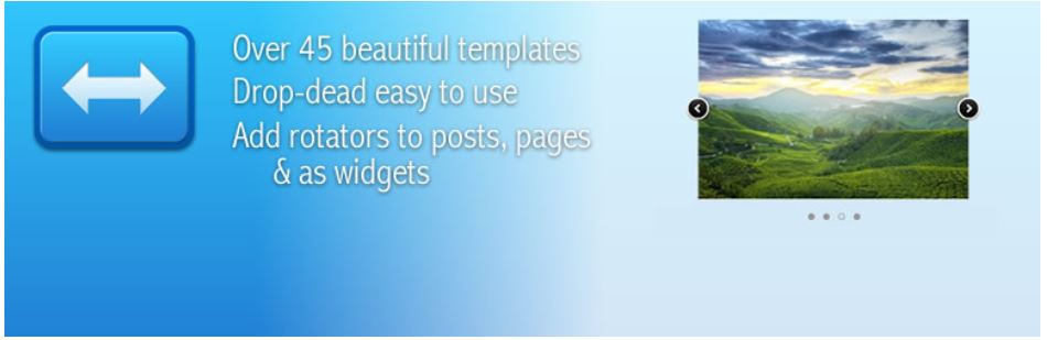 Easy rotator responsive image slider WordPress plugin