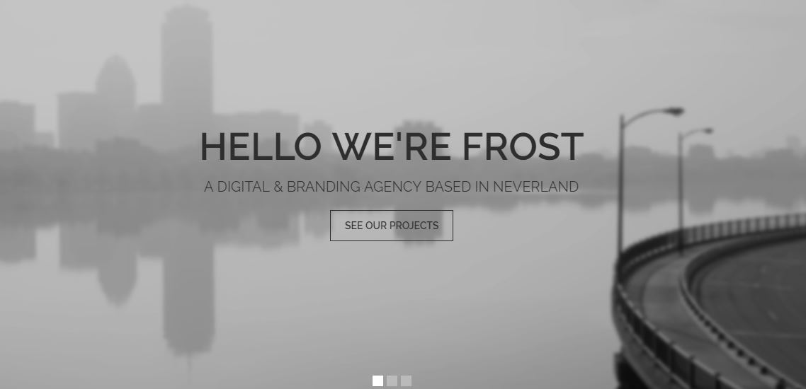 Frost wordpress templates for artists