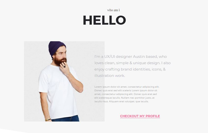 Me Onepage portfolio based WordPress theme