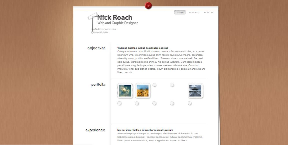 MyResume WordPress resume template