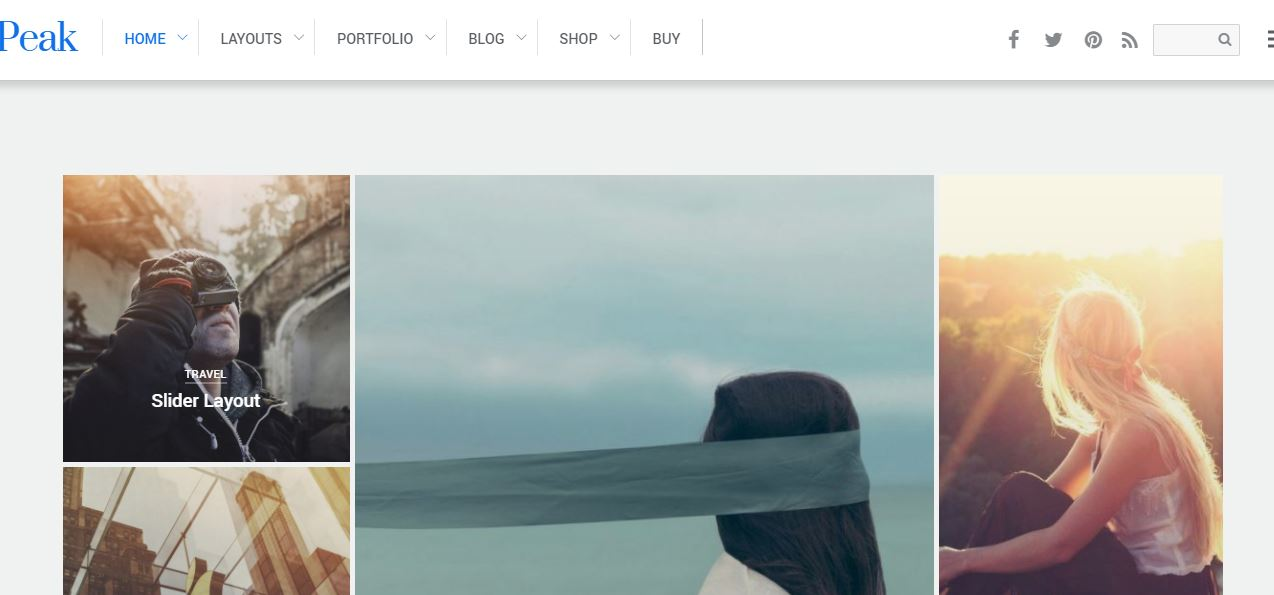 Peak WordPress themes for art portfolio