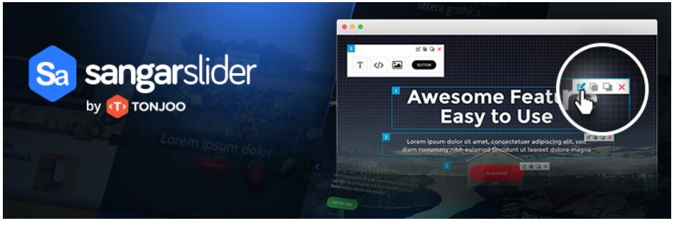 Sangar responsive image slider WordPress plugin