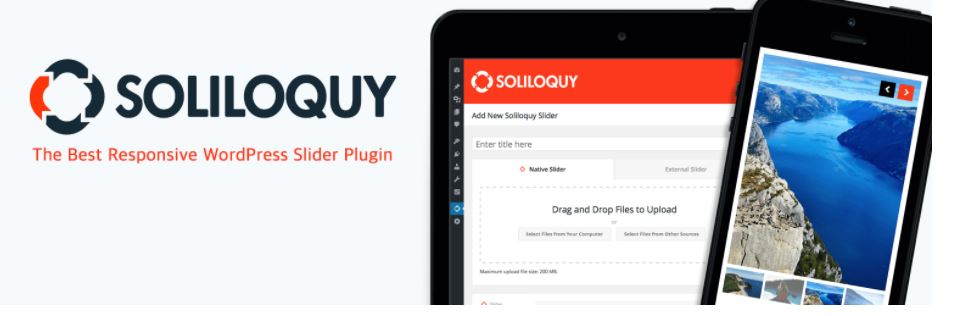 Soliloquy responsive image slider WordPress plugin