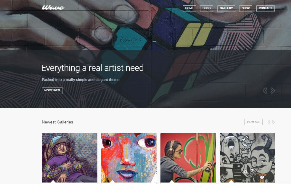 Wave WordPress Artist Themes