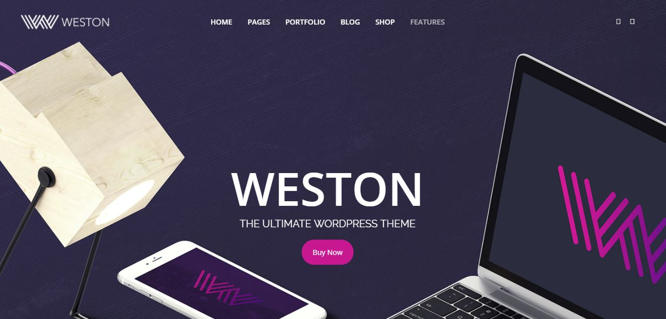 Weston wordpress theme for artists