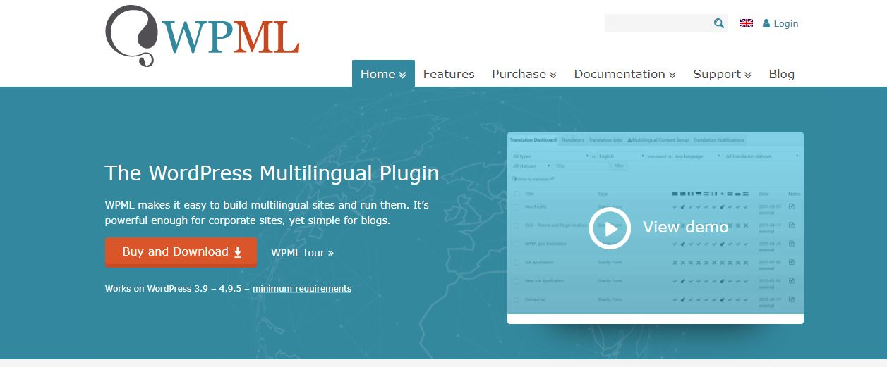 WPML Multi language WordPress plugin