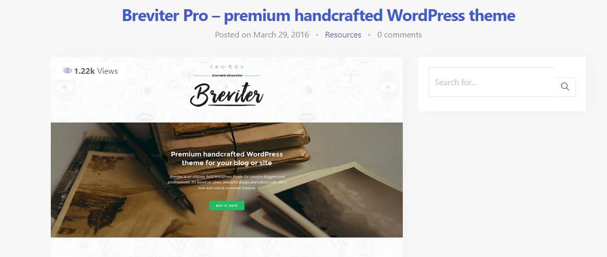 Breviter Pro Fashion Blogging Theme