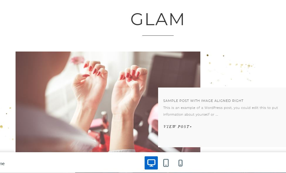 Glam Pro fashion blog themes