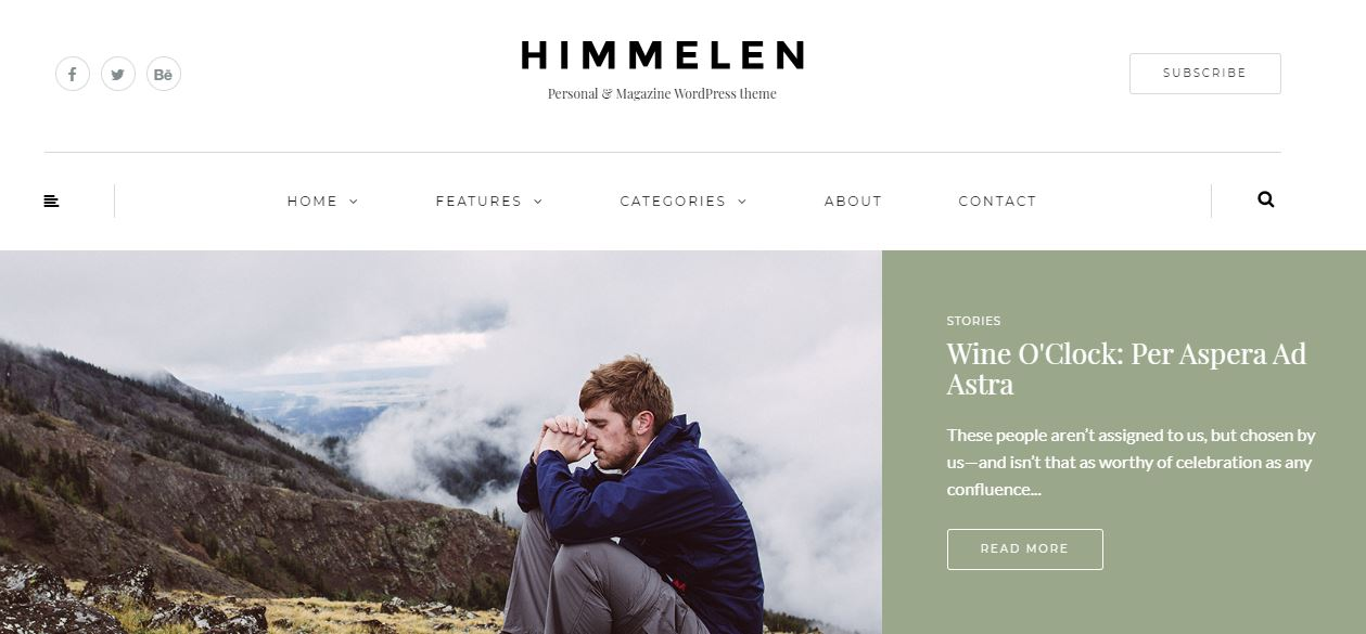 Himmelen fashion blogger wordpress themes