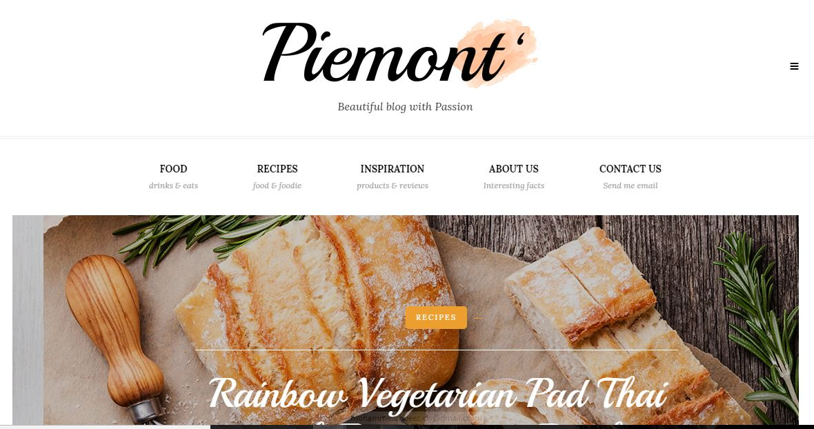 Piemont fashion blogger theme