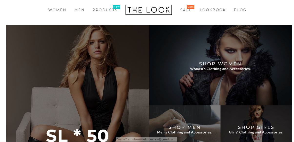 The Look fashion WordPress blog's Theme