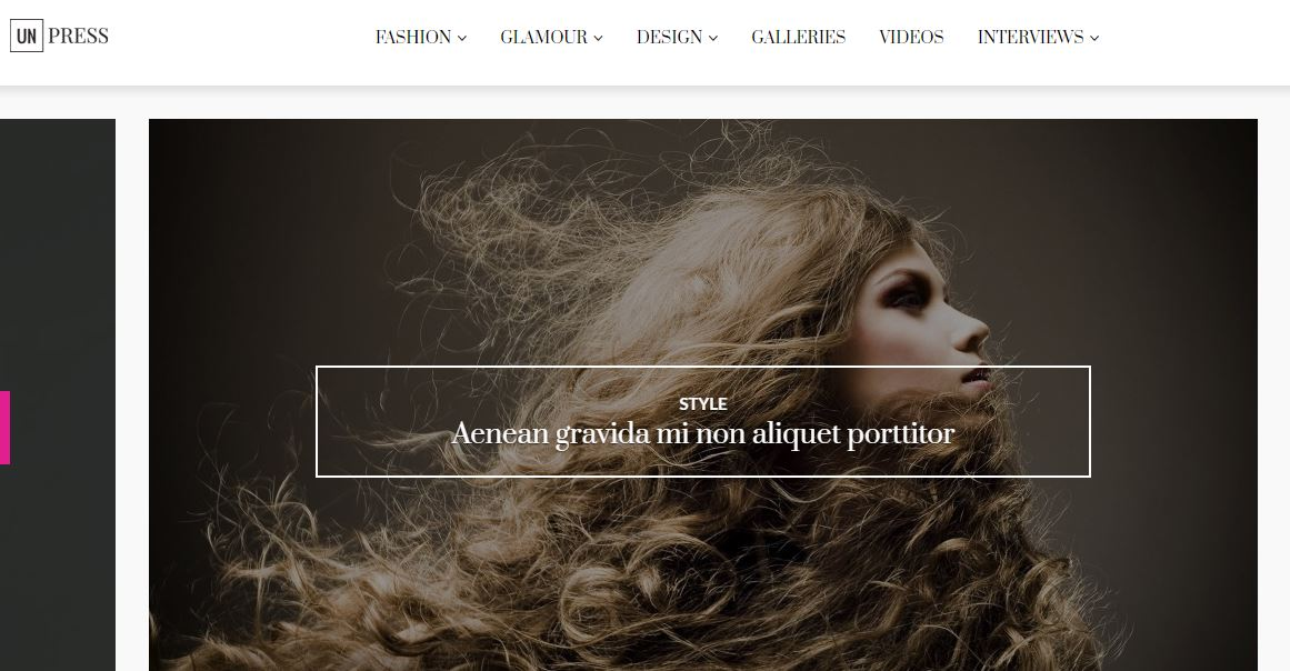 unPress Fashion WordPress Theme