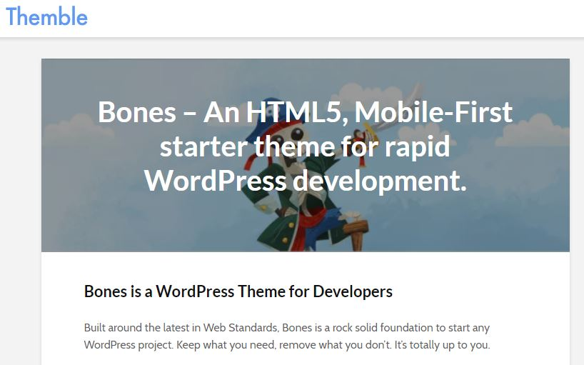 Bones wordpress starter theme