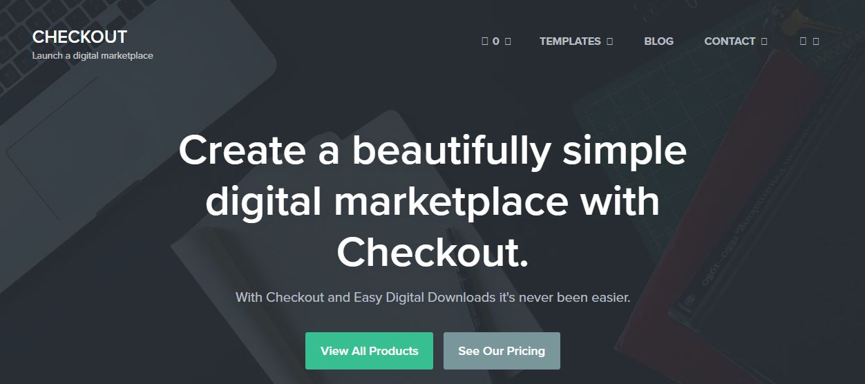 Checkout Digital Marketplace WordPress Theme