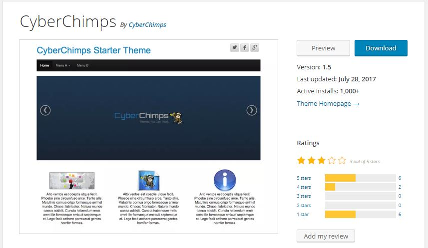 CyberChimps wordpress starter theme