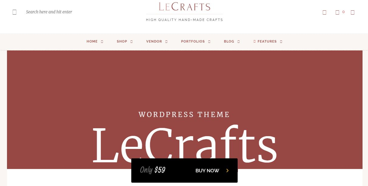 LeCrafts WooCommerce Marketplace Theme