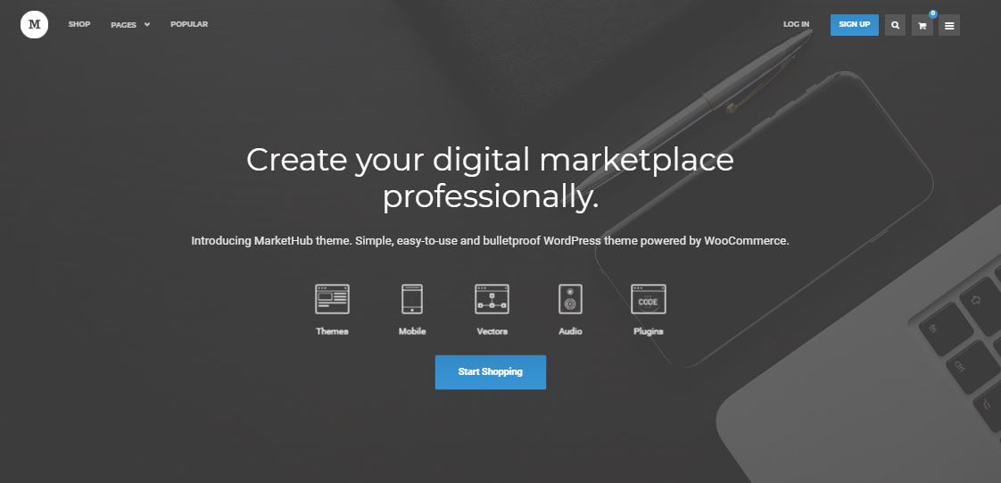 MarketHub Marketplace WordPress Theme