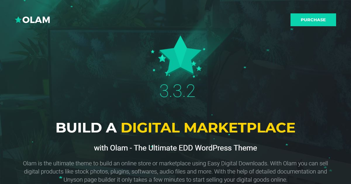 Olam - Marketplace WordPress Theme