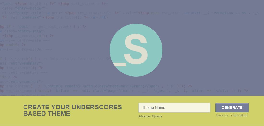 Underscores wordpress starter theme