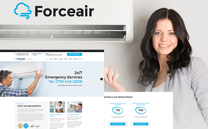 ForceAir elementor WordPress Theme