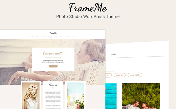FrameMe elementor wordpress theme