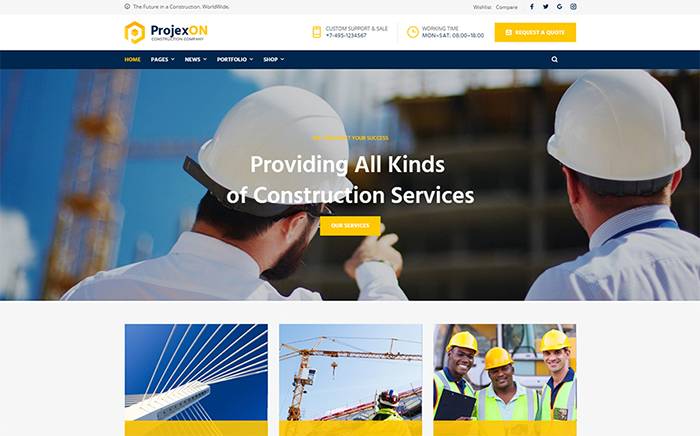 ProjexOn elementor wordpress themes