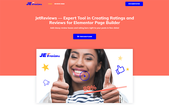 JetReviews Reviews Widget for Elementor Page Builder WordPress Plugin